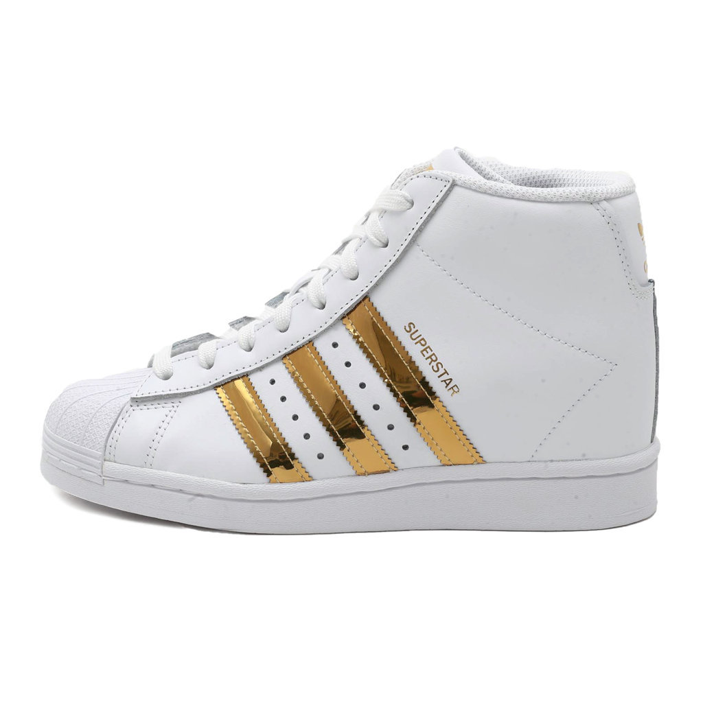Adidas Superstar Up Bianca con Bande Oro