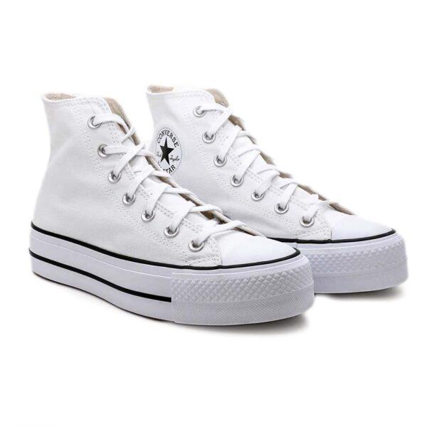 Converse Chuck Taylor All Star High Platform Bianco